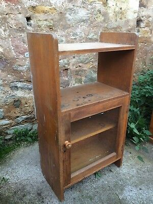 Vintage school science lab - oak wall cupboard