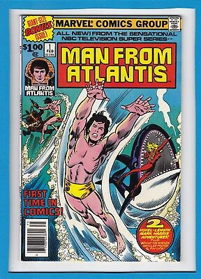 THE MAN FROM ATLANTIS #1_FEBRUARY 1978_VERY FINE+_GIANT-SIZE FABULOUS 1st ISSUE!
