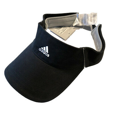 Adidas Golf Ladies Women's Performance Visor - Black/White - Adjustable