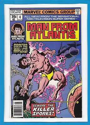 """The Man From Atlantis #4_May 1978_Fine_""""beware...the Killer Spores""""_Bronze Age!"""