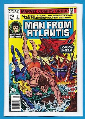 """The Man From Atlantis #5_June 1978_Nm Minus_""""the Ray Of Red Death""""_Bronze Age!"""
