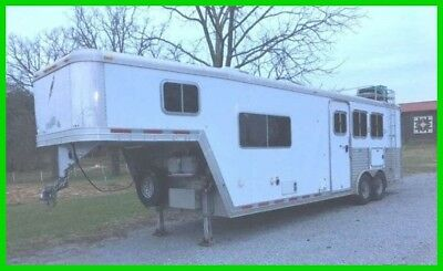 2007 Featherlite 8581 3 Horse 24' Trailer with Living Quarters A/C Tack Room TN