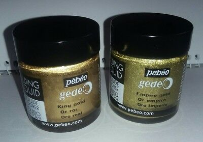 Bundle large Pots Assorted Pebeo Gilding Liquid *NEW* 2 pots King Empire Gold