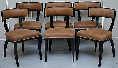 Set Of 6 New Rrp £14,400 Ipe Cavalli Nella Vertina Italy Dining Chairs Suede