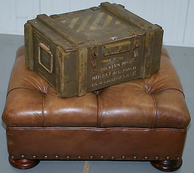 World War Ii Stamped 1945 Ammunition Chest Trunk For Mk2 Rockets Fully Labelled