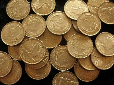 Chile  lot 25 coins  2 Centesimos 1969 BU