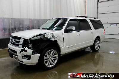 2017 Ford Expedition Platinum EL Ford Expedition EL Platinum, 3.5L Salvage Title, Repairable, Rebuildable #A28520