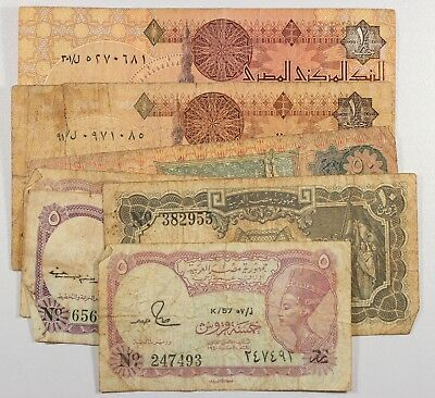 Egypt LOT OF 7 BANKNOTES