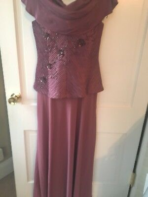 Mother of Bride Gown Size 14 Mauve Floor Length NWOT Special Occasion Dress