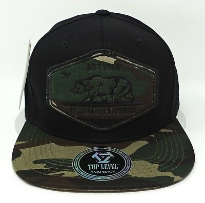 a8666c62c32 CALIFORNIA REPUBLIC SNAPBACK Cap Hat Camouflage CALI Bear Flag Caps ...