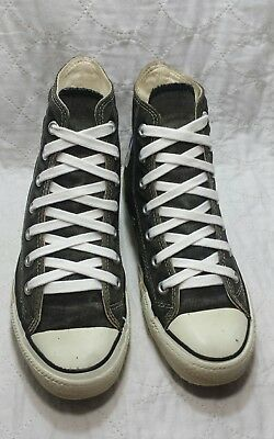 Converse 1980's all star hi made in USA black and white condition size 6 men's