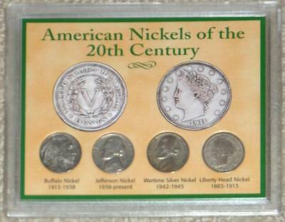 AMERICAN NICKELS OF THE 20th CENTURY ~ 4 COINS ~ RAPIDLY VANISHING U.S. NICKELS