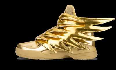28b3348dca29 ADIDAS JEREMY SCOTT JS Wings 3.0 Gold NEW Authentic 5 1 2 US ...