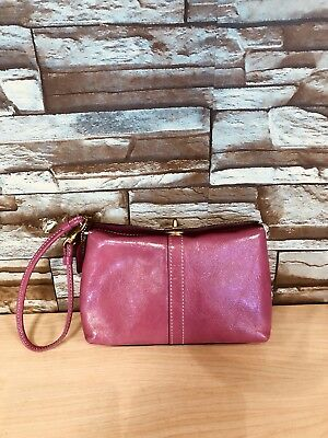 COACH Pink Patent Leather  Wristlet w/turn lock closure