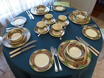 RARE  MYOTT & SON  DINNER SETTING Countryside Pattern (24 PIECES)