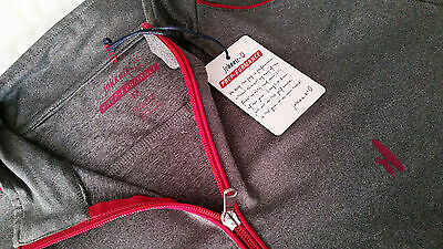 Johnnie-O Lammie 1/4 Zip PREP-FORMANCE Grey/Red Pullover - NWT! retail $115