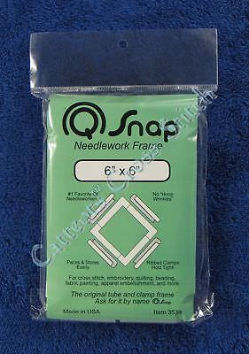 "Q Snap Needlework Frame 6"" x 6"" Cross Stitch Embroidery Quilting QSnap"