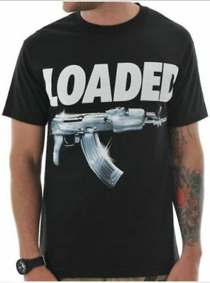 Mafioso Clothing Silver Loaded Ak 47 Rifle Machine Gun Urban Hip Hop T Shirt