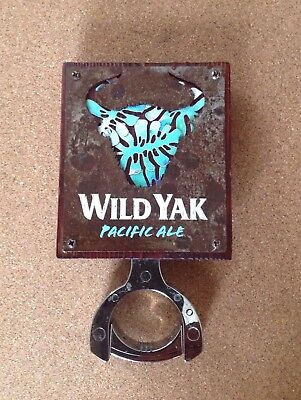 Wild Yak Pacific Ale Tap Badge/Decal With Mounting Bracket And Backing Sticker