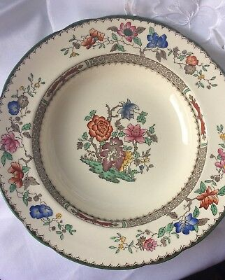 Coalport Chinese Rose Soup Plate, Vintage, good condition
