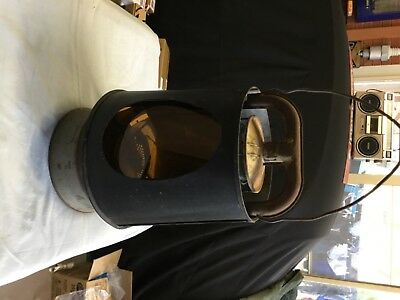 Lenora kerosine lamp with amber lens and cover vintage collectable