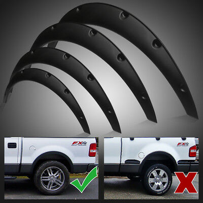4pcs Universal Fender Flares Flexible Durable Polyurethane Auto Car Body Kit