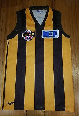Afl Sekem Hawthorn Hawks Jumper Jersey Guernsey With Centenary & Mbf Patches