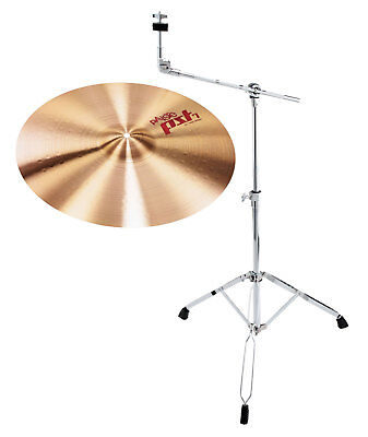 "TOP Paiste 18"" PST7 Crash Becken mit warmem Sound inkl. stabilem Galgenstativ"