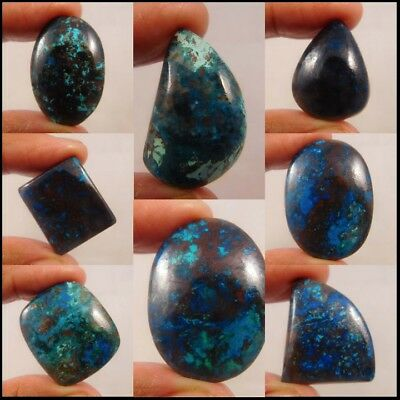 100% Natural Azurite Loose Cabochon Gemstone ND490-502 Free Shipping