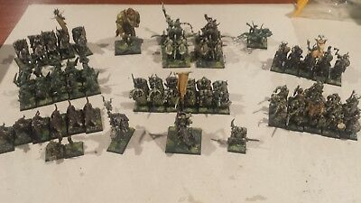 Warhammer Age Of Sigmar Nurgle theme Warriors of Chaos Army - Well Painted
