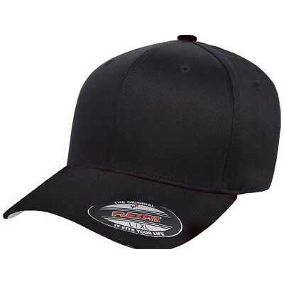 Flex Fit Herren Cap Wooly Combed - black/black