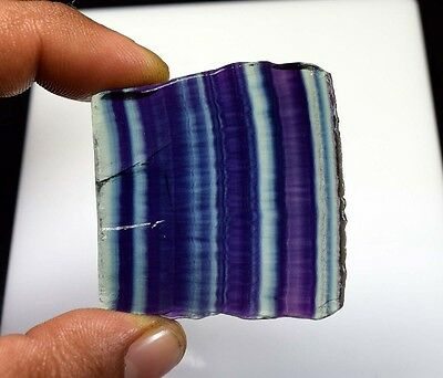 173.10 Cts. 100% Natural Best Grade Fluorite Rough Slice For Cabochons