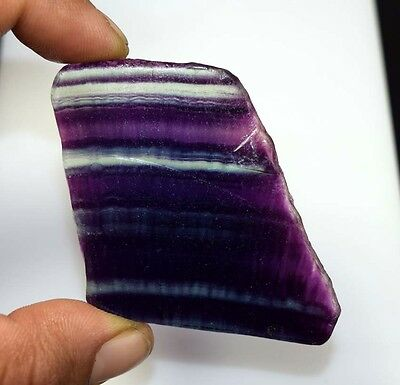 182.55 Cts. 100% Natural Best Grade Fluorite Rough Slice For Cabochons