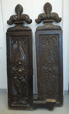 16th / 17th century Carved Oak Pew Ends