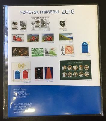 Foroysk Frimerki Post Official Year Set 2016 MNH Complete as Issued