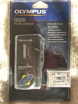 Olympus Pearlcorder S600 Microcassette Voice Recorder with 1 Microcassette.