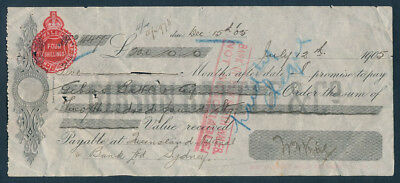 Australia: 1905 Time Note from Famous Moffat-Virtue Sheep Shearing Machine Co!