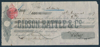 Australia: 1907 Time Note from Famous Moffat-Virtue Sheep Shearing Machine Co!