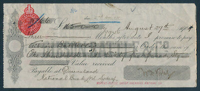 Australia: 1904 Time Note from Famous Moffat-Virtue Sheep Shearing Machine Co!