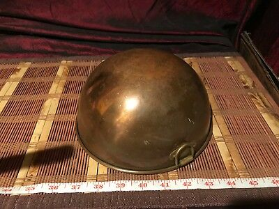 """Vintage Copper Mixing Bowl w/ Brass Ring 8""""x3 3/4"""" Made in Korea"""