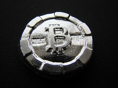HACMint 3.4 oz 999+ Fine Silver BITCOIN Hand Poured ART ROUND