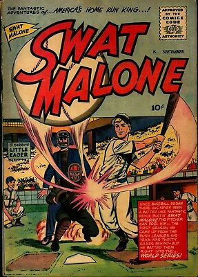 SWAT MALONE 1 America's Home Run King!- Hy Fleishman art; only issue