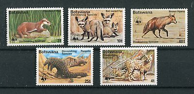 Botswana QEII 1977 WWF Diminishing species SG394/98 MNH