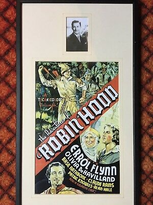 Errol Flynn The Adventures of Robin Hood Film Movie  Art Poster Framed