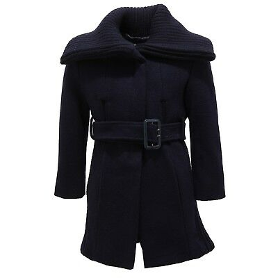 2224V cappotto bimba PINKO UP misto lana blu coat kid