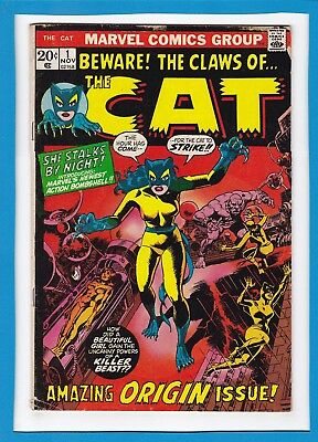 Beware! The Claws Of The Cat #1_November 1972_Very Good_Origin_Bronze Age Marvel