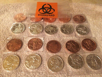 Zombucks silver and copper rounds set