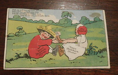 Mechanical action advertising card for Billiken Shoes