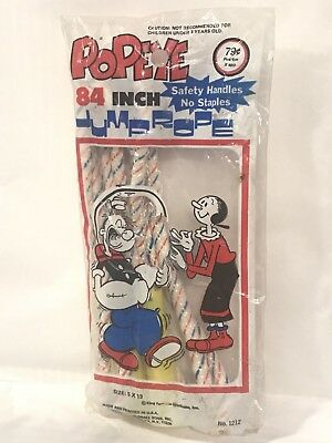 Vintage Popeye Jump Rope 84 Inch King Features Collectible New Unopened