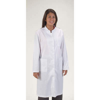 (Lot 2) Women's Extra Large Xl Long White Low Collared Lab Jacket Coat Medical